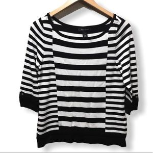 {WHBM} Striped Pullover Sweater